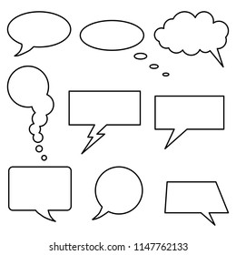 Vector set of speech bubbles. Flat design. Icons collection.