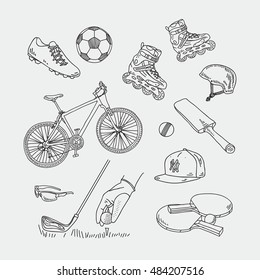 Vector set with sport attributes