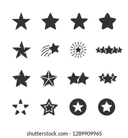 Vector set of star icons.
