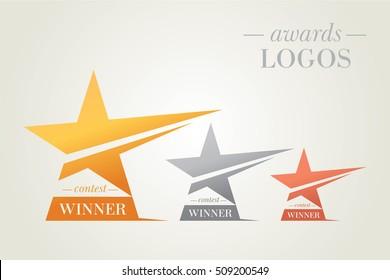 Vector Set Of Stars Awards