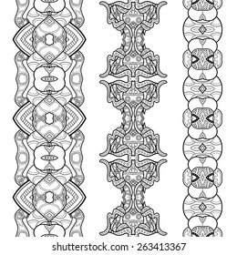 Vector Set of Stickers, Labels, Tags, Bookmarks. Hand Drawn Texture