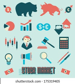 Vector Set: Stock Market Icons and Symbols