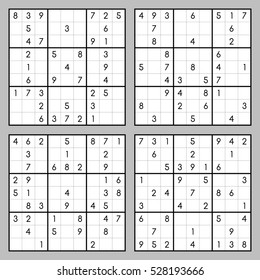Vector set of sudoku