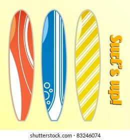 vector set of surfboards