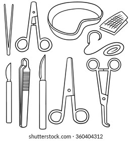 vector set of surgical instrument