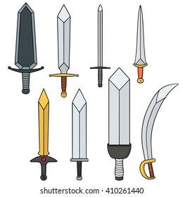 vector set of sword