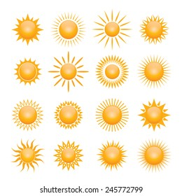 Vector set symbol of sun