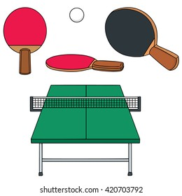 vector set of tabletennis