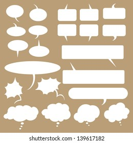 vector set of talk and think bubles
