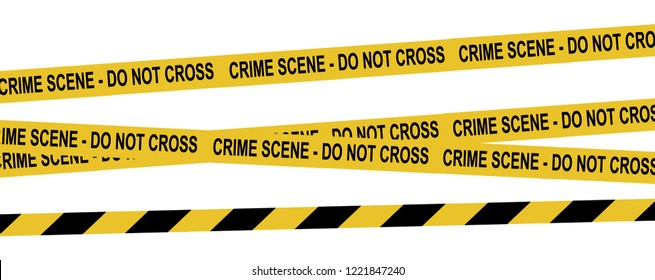 Vector set of tapes. For restriction and dangerous zones. Yellow and black.
