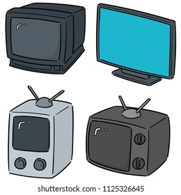 vector set of television