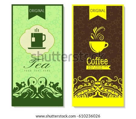 vector set templates packaging coffee label stock vector royalty