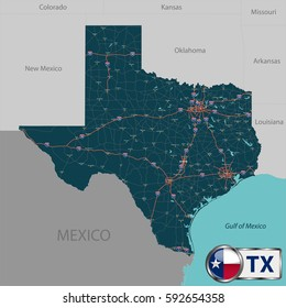 State Map Of Texas With Cities.Texas Map Images Stock Photos Vectors Shutterstock