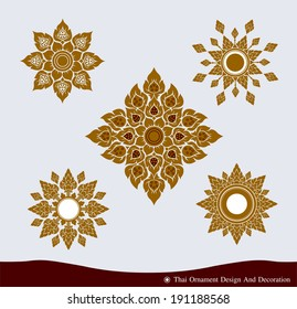 Vector set of Thai Ornament Design