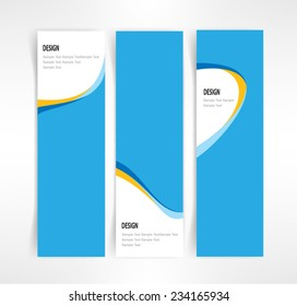 Vector set of three header designs business