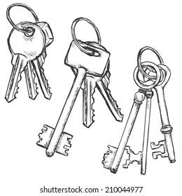 Vector Set of Three Sketch Bunchs of Keys