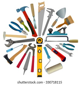 vector set of tools for repair and construction