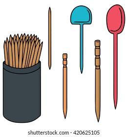 vector set of toothpick