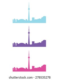 Vector set of the Toronto skyline