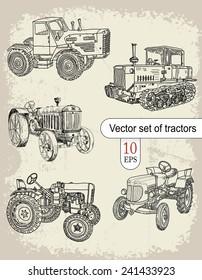 Vector set of tractors