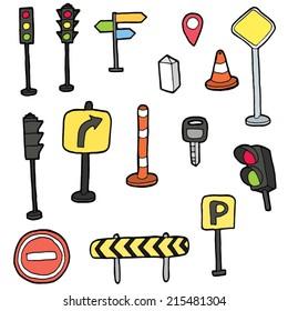 vector set of traffic icon