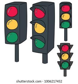 vector set of traffic light