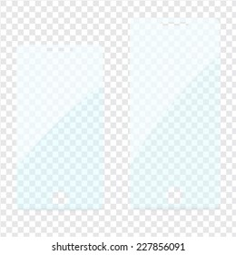 Vector set of transparent screen protector films for mobile phone with patch of reflected light