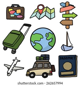 vector set of travel icon