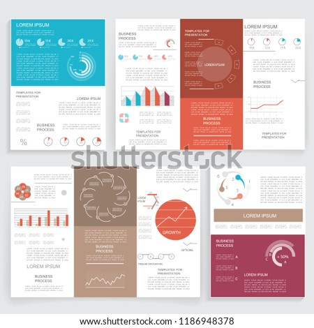 vector set trifold brochure templates business stock vector royalty
