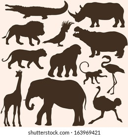 picture regarding Free Printable Forest Animal Silhouettes identify Animal Silhouette Pictures, Inventory Illustrations or photos Vectors Shutterstock