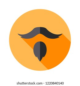 Vector Set of Types of Beards Goatee. Hipster icon