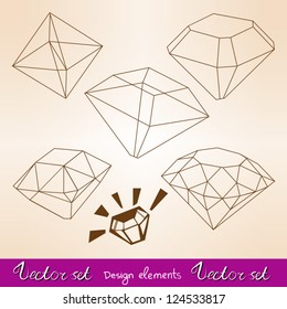Vector set types of diamond's cuts.