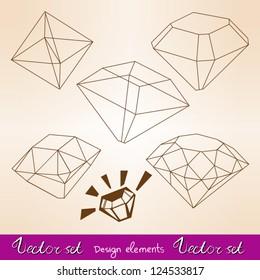 Vector set types of diamond's cuts.