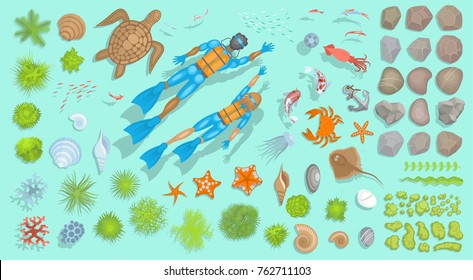 VINTAGE UNDERWATER DIVING SKULL NAUTICAL OCEAN Mens Navy Hoodie