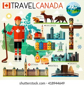 Vector Set of Various Canada Icons