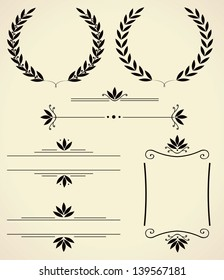 Vector set of various elements for design and page decoration.