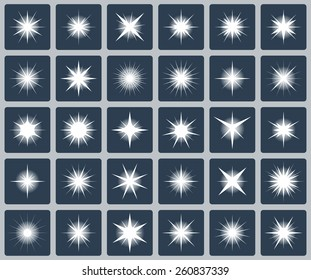 Vector set of various forms of sparks
