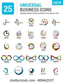 Vector set of various new universal business logos