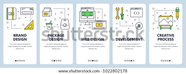 Vector Set Vertical Banners Brand Design Stock Vector Royalty Free 1022802178