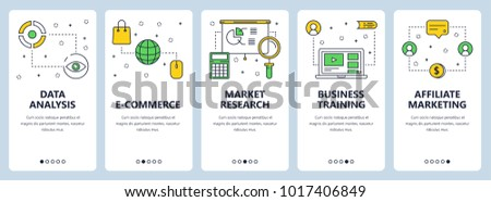Vector Set Of Vertical Banners With Data Analysis E Commerce Market Research