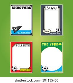 Vector Set: Vintage Futbol/Soccer Trading Card Frames
