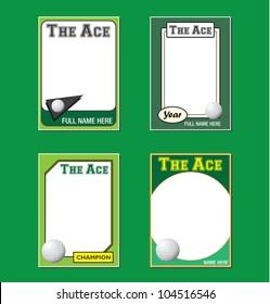 Vector Set: Vintage Golf Trading Card Frames