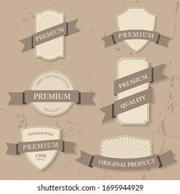 Vector set of vintage label premium quality.