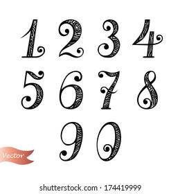 Vector Set of Vintage Numbers