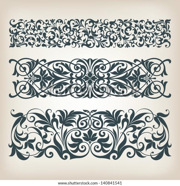 Image Vectorielle De Stock De Ensemble Dimages Vintage