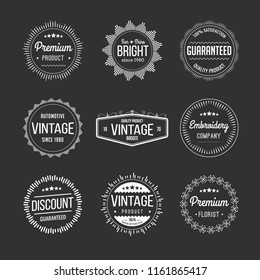 Vector set of vintage retro badges / stamps / labels/ insignias. Inspired by handcrafted classic signs.