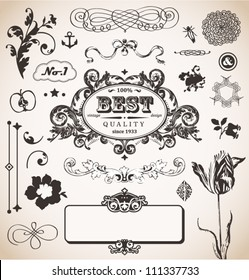 Vector set in vintage style for You
