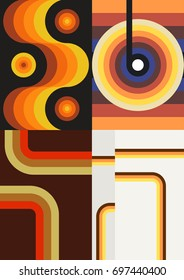 Vector Set of Wallpapers from the Seventies