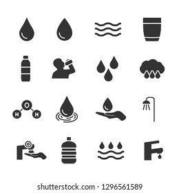 Vector set of water icons.