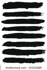 vector set of watercolor hand paint brush strokes